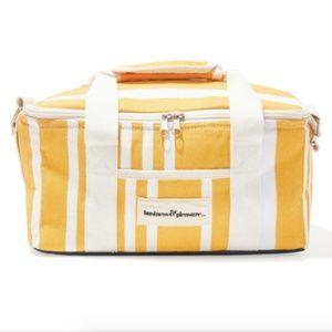 Yellow Stripe Cooler Bag